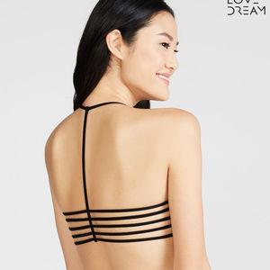 LLD (Black) Strappy T-Back Bralette Sz S